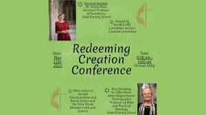 Redeeming Creation Conference @ Online Webinar