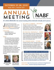 North American Baptist Fellowship Annual Meeting @ This event has now gone 100% virtual.